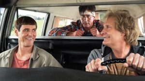 DUMB AND DUMBER TO, from left: Jim Carrey, Rob Riggle, Jeff Daniels, 2014. ph: Hopper